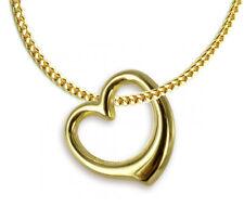 ECHT GOLD Herz Anhänger + Kette GOLD DOUBLE, Herzkette für Kinder