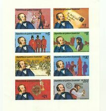 STAMP ON STAMP GUINEA EQUAT 1979 Sir Rowland Hill block B