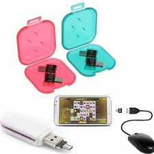 New 2pcs Micro USB Male to USB Female OTG Adapter For Cables Android Smartphones
