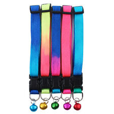 Collar with Bell  Colorful Glossy Reflective Safety Buckle Small Dog Puppy Cat