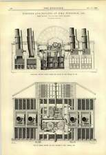 1888 Engine And Boilers Of Hms Terrible 1842 Coal Bunkers Plans