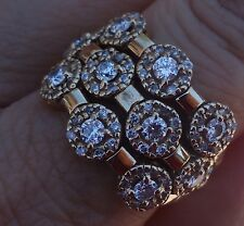 Sonia Diamond Wide floral right-hand ring gorgeous 14k YG Designer