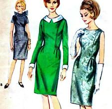 """Vintage 60s SLIM DRESS Sewing Pattern Bust 36"""" Size 12 RETRO Evening COCKTAIL"""