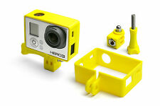 Frame Mount Tripod Mount für GoPro Go Pro HD HERO 3 Black Zubehör Adapter Yellow