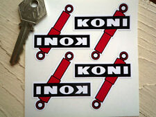KONI SHAPED Set 4 Shock Absorber stickers 50x50mm