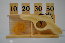 Rubber Band Shooter Gun With Wooden Target  NIB