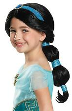 GIRLS DISNEY ALADDIN JASMINE WIG COSTUME ACCESSORY DG65377