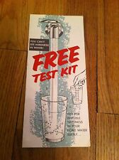 Vintage MONTGOMERY WARD Fairway WATER TEST KIT Brochure HARDNESS Analysis RARE