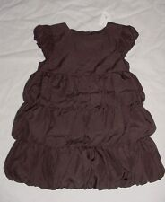 NWT Baby GAP Girls PORTOBELLO Brown Tiered Bubble Dress 18-24 M