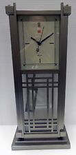 "BULOVA MANTLE/TABLE CLOCK -FRANK LLOYD WRIGHTDESIGN "" DANA HOUSE"" B7765"