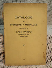 rare antique old COIN CATALOG CATALOGO DE MONEDAS Y MEDALLAS WORLD MONEY MEDALS