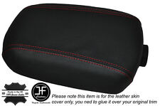 RED STITCH LEATHER SKIN ARMREST LID COVER FITS KIA SPORTAGE 2010-2015