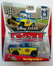 Disney Cars  DEXTER HOOVER With CHECKERED FLAG  Very Rare UK !!