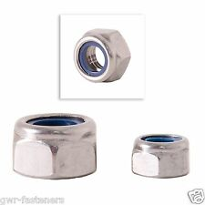 "1/2"" BSW Nyloc Nuts - BZP - 5 Pack - Whitworth"