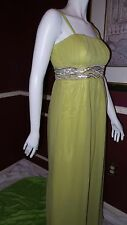JS BOUTIQUE* LIME GREEN MAXI FULL Length Cocktail Event Wedding Dress 10 Rt $198