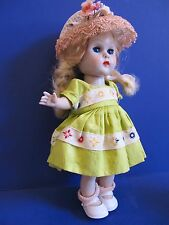 Vintage Vogue Ginny Doll in Minty Tagged Outfit, Blonde,Working Blue Eyes CUTIE!