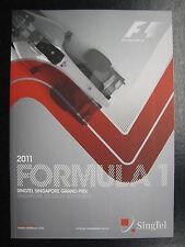 Program 2011 Formula 1 Singtel Singapore Grand Prix 23-25 Sept Singapore (PBE)