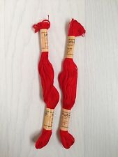 NEW Pair - 2 X Mouline Red - Embriodery Thread Floss Needlecraft Sewing Stitch