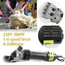 380W 220V 6 Levels Electric Sheep Shearing for Goats Clipper Shear Alpaca Farm