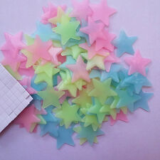 Colourful Glow In The Dark Star Wall Stickers Decal Kid Bedroom Nursery Room US