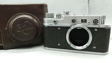 1956 ZORKI-1C 1S Body Rangefinder Camera Based On Leica with Leather Case EXC+++