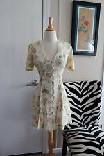 True Vintage 90210 Style 90s Grunge Handmade Dress Medium Large EUC pinup retro
