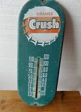 1950's Vintage Orange Crush Soda Pop Advertising Sign Thermometer
