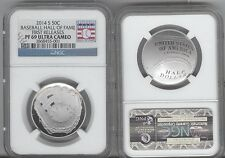 2014-S BASEBALL Clad HALF - NGC  PF69 UCAM  PROOF 69 FIRST RELEASES HALL OF FAME