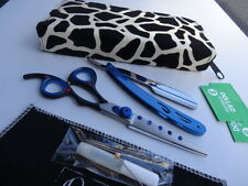 "120daysWRNTY_6"" Prof Hairdressing Hair Scissors/Clip Razor/Fabric Case (7""Full)"