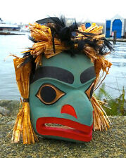Northwest Coast First Nations Canada Native Tribal Art Cedar Raven Spirit Mask