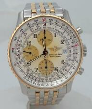 BREITLING NAVITIMER 18K YELLOW GOLD STAINLESS STEEL AUTOMATIC WATCH D13022 41mm