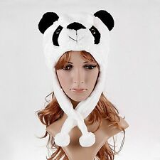 Cute Animal Panda Children Kids Boys Girls Hat Plush Stuffed Toy Faux Fur Beanie