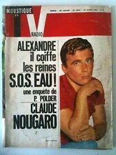 Télé Moustique 18/03/65  Claude Nougaro avec ça femme