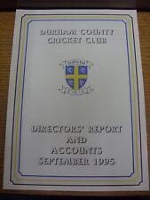 1995: condado de Durham Cricket-Informe de directores y las cuentas Trus de septiembre de 1995.