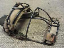 Vintage Wire & Leather Baseball Catchers Mask   Antique Old Ball Equipment 8217