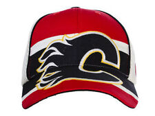 OLD TIME HOCKEY CALGARY FLAMES ECLIPSE BLACK/WHITE FLEXFIT HAT CAP SZ OSFA