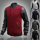 New Men's Fashion Casual Jacket Warm Winter Baseball Coat Slim Outwear Overcoat