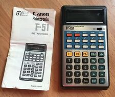 Vintage Japan Canon Palmtronic F-51 Scientific Calculator, Working, Rare