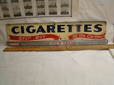 Vintage cigarette display sign Two sided.