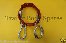 FREE 1st Class Post - Breakaway Cable with Split Ring for Caravans & Trailers