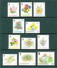 Guernsey 1992 and 1996 Flowers. Mint Set. One postage for multiple buys.