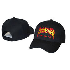 Thrasher Hat Cap Fire Black Magazine Flames Adjustable Embroidered Logo New