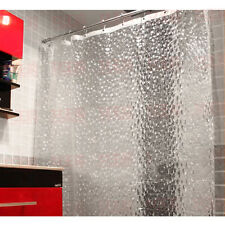 Tricolor Optional 3D Water Cube Translucent Bathroom Shower Curtain with 12Hooks