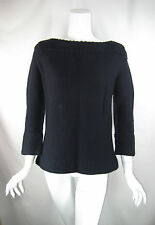 MARC BY MARC JACOBS Navy Blue Back Button Pull Over Wool Sweater Size Medium