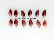 TIGER EYE 8X4 MM  MARQUISE NATURAL CABOCHON 12 PC SET $2.19 RED COLOR