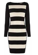 BNWT ��COAST �� Size 10 Petite TABBIE KNIT DRESS Beige /Nude Black Colour Clock