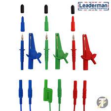 LDM165 Multifunction Unfused Test Leads,Probes & Clips -Ideal for Fluke & Megger