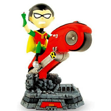 DC COMICS TEEN TITANS Robin figure on bike Bobblehead statue VERY COOL! batman