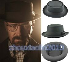 New Black Felt Pork Pie Crushable Hat Breaking Bad Hat Walter Fashion Cap 56cm