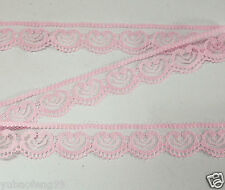 Wholesale!pink 10yd unilateral Handicrafts Embroidered Net Lace Trim Ribbon